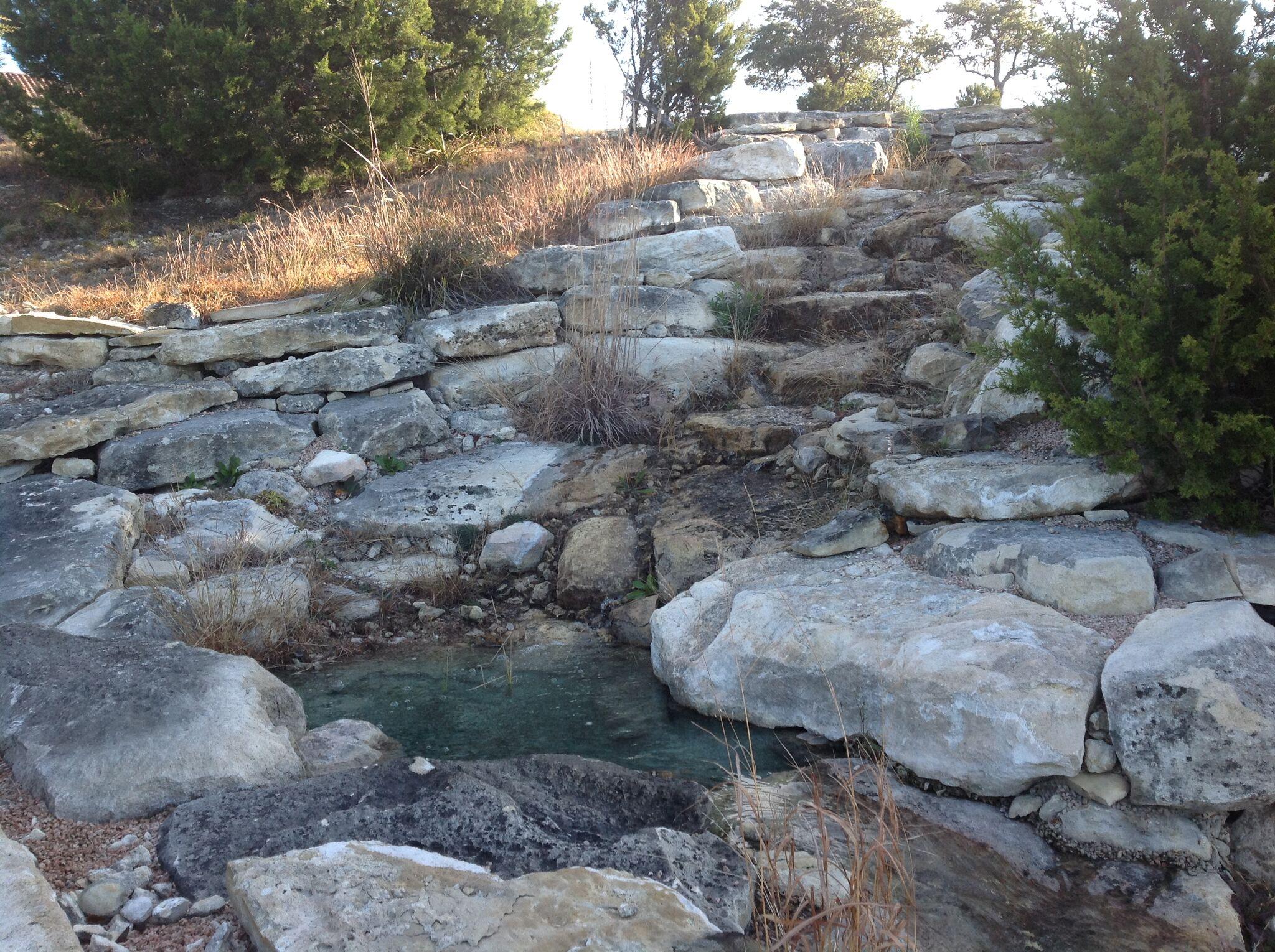 Hillside waterfall