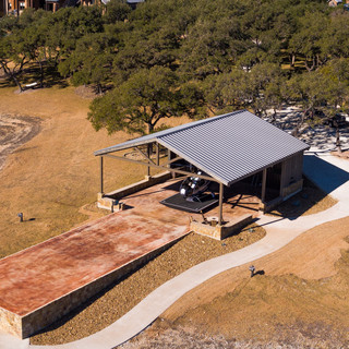 Helicopter Pavilion on Lake Travis