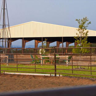 Red Iron Steel Equestrian Arena