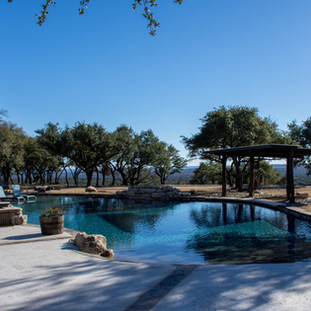 Custom designed pool on Texas Hill Country ranch