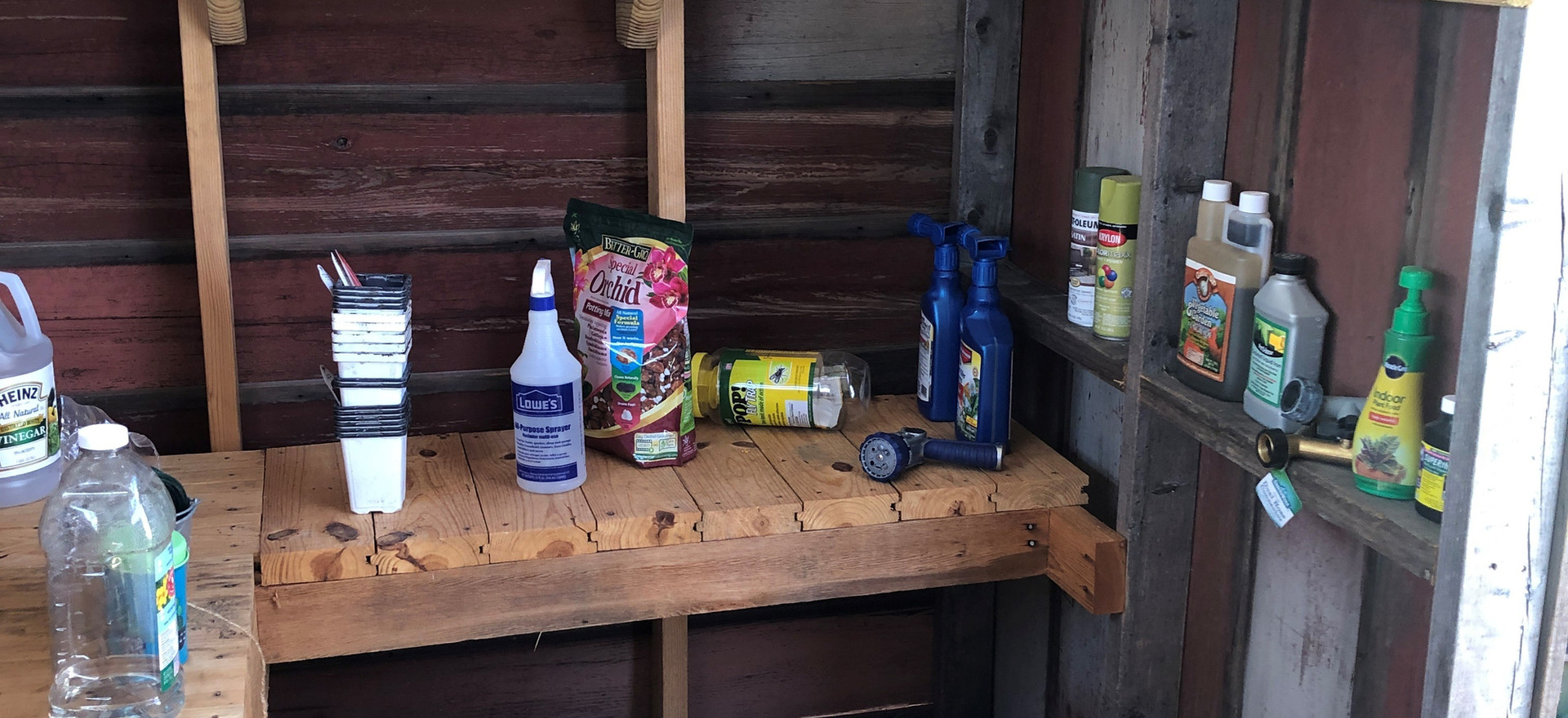 Greenhouse Potting Shed Interior