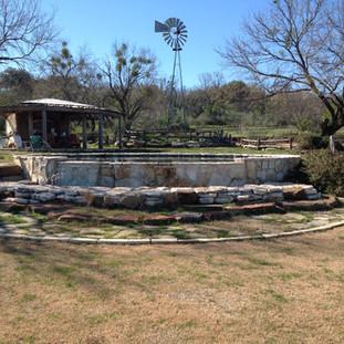 Cistern pool on Lake Travis ranch
