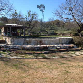 Cistern pool on Lake Travis ranch