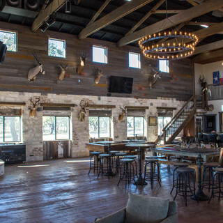 Interior of Saloon on private Hill Country ranch