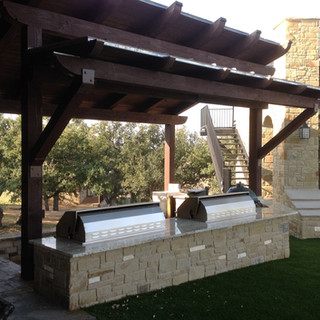 Outdoor kitchen on West Texas ranch