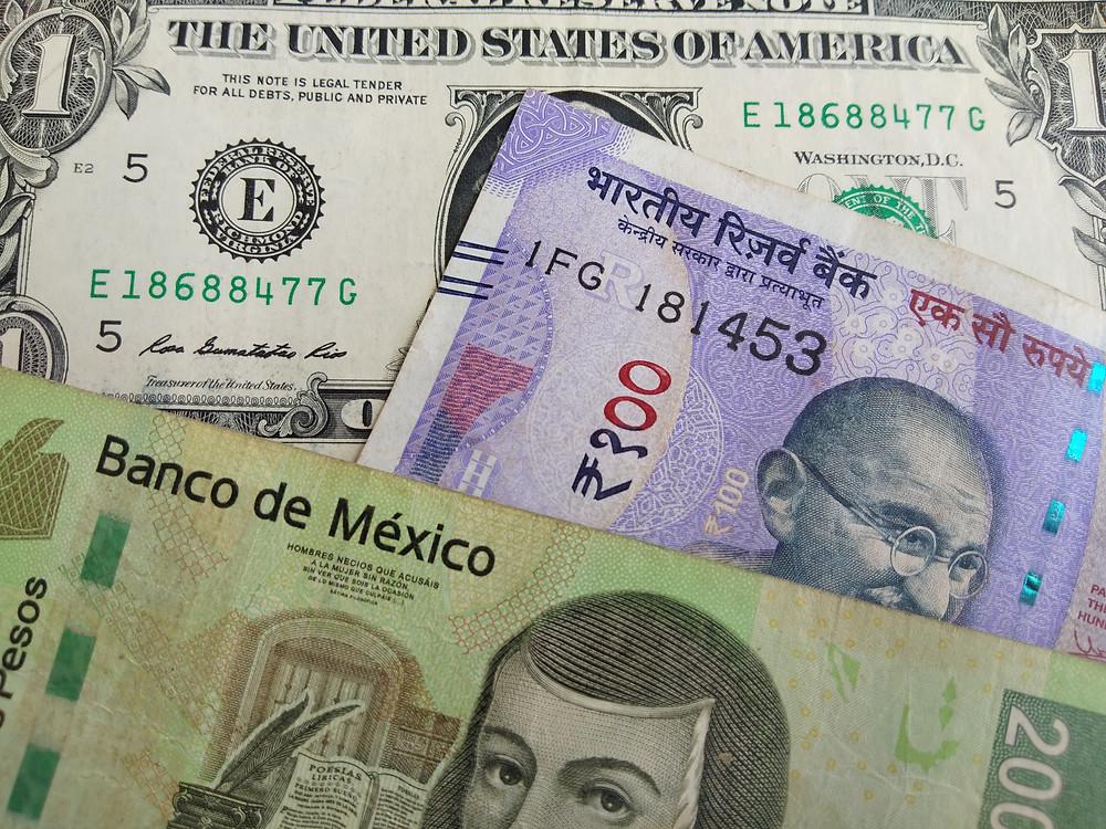 billetes de divisas del mundo