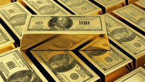 Oro cayendo por dólar subiendo