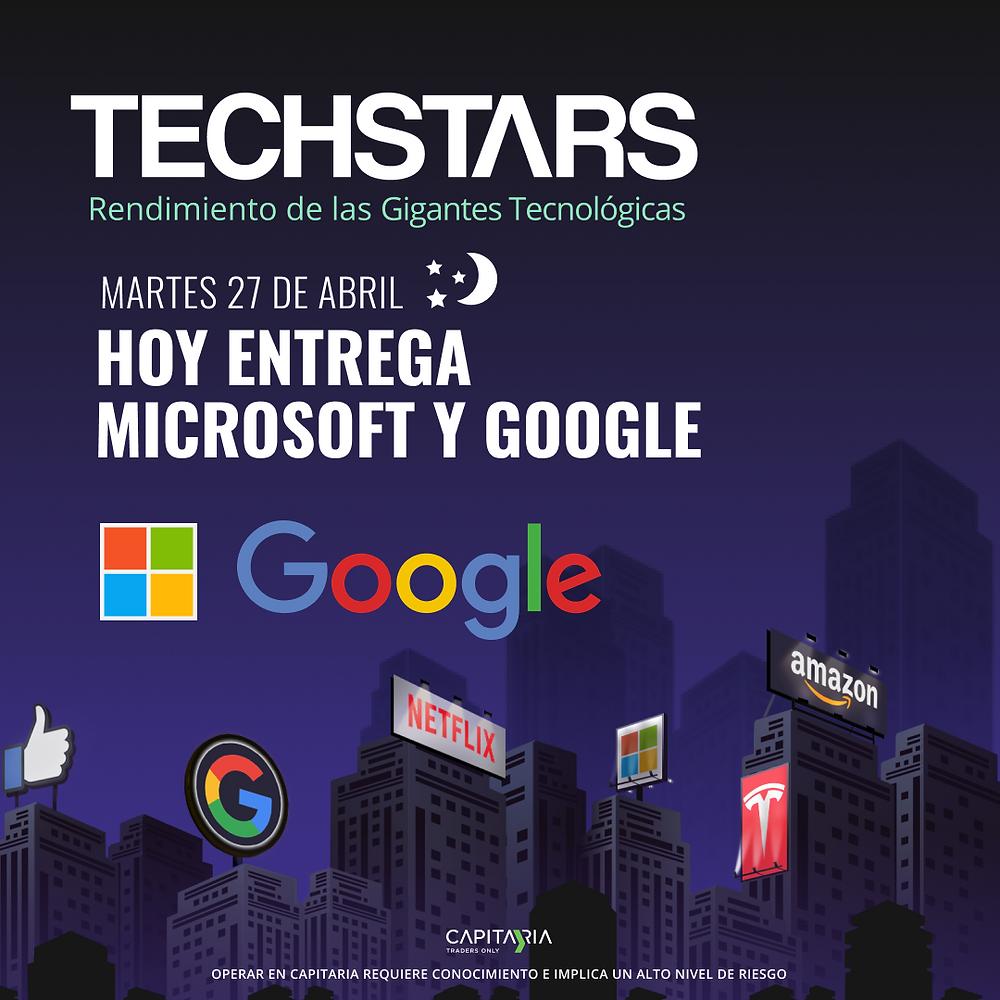 entrega de resultados microsoft y google