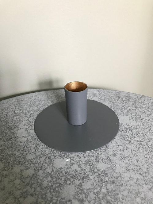 Circle kandelaar grijs