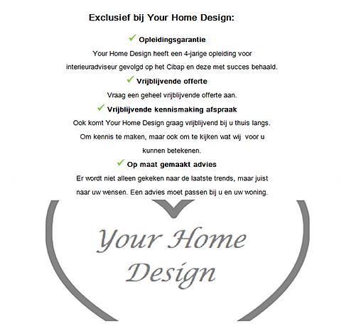Exclusief bij Your Home Design