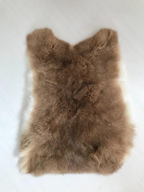 Luxe konijnenvacht bruin