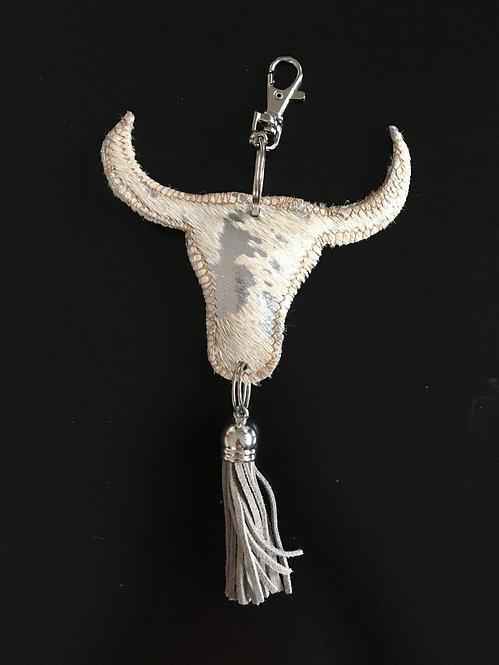 Sleutelhanger Stier, zilver