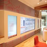 Custom interactive videowalls for retail