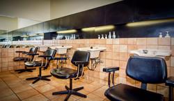Hair salon wash area