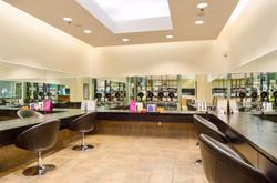 Hair salon hair color room