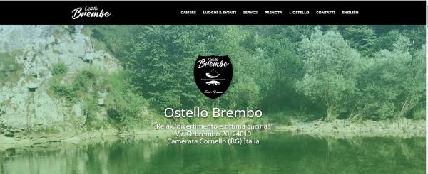 Progettazione culturale: Marketing territoriale - Sito web Ostello Brembo
