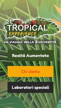 App mobile della mostra Tropica Experien