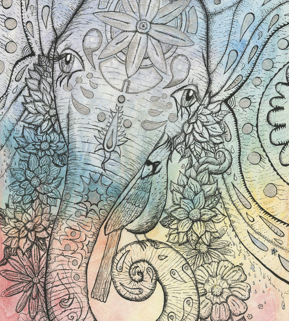 Cosmic Pachyderm with Friend