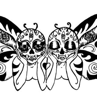 Butterfly Skull Twins