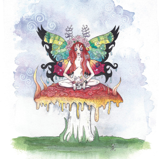 Contemplating Fae with Skull