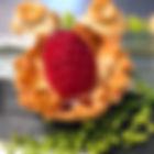 Raspberry fillo cup