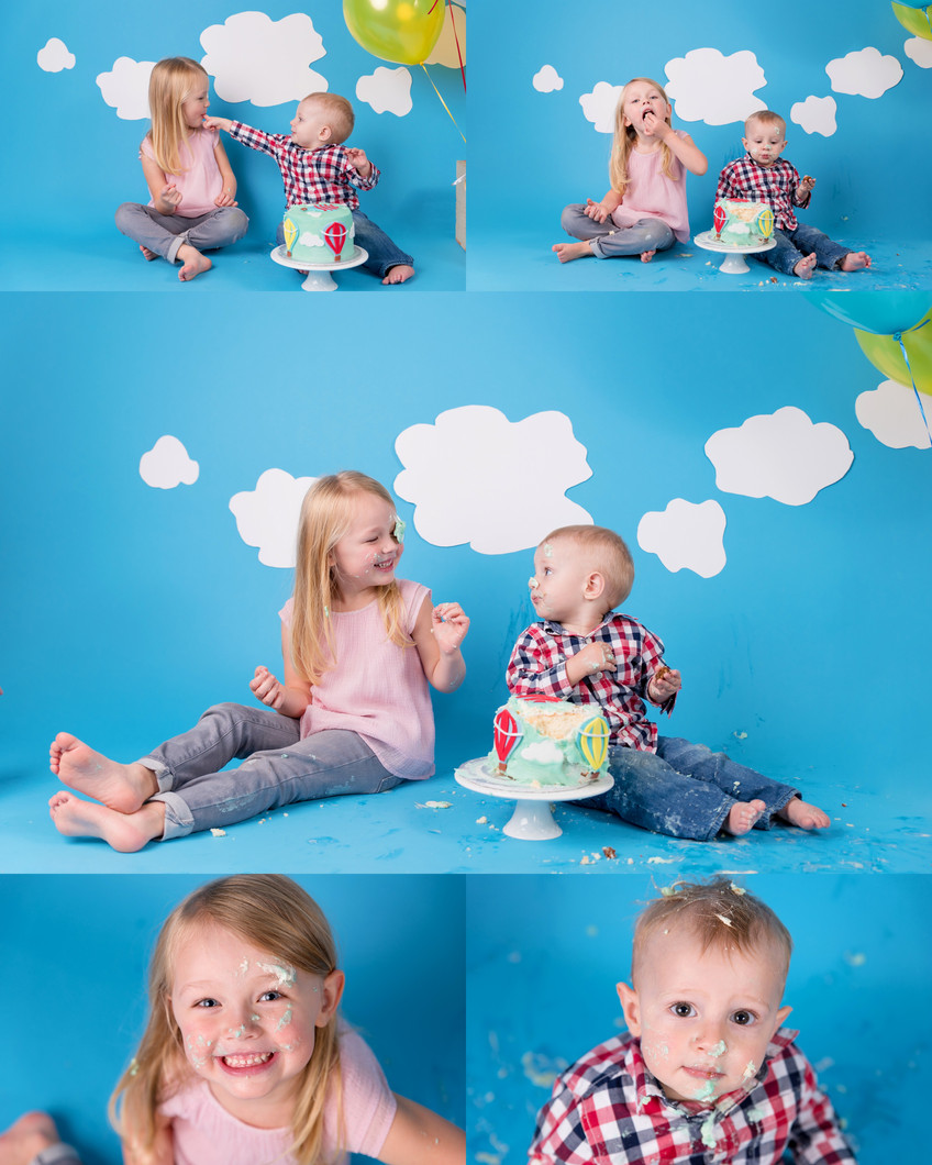 Cake smash and family outdoor shoot