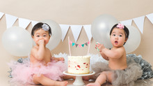 Twin cake smash {Vancouver family photographer}