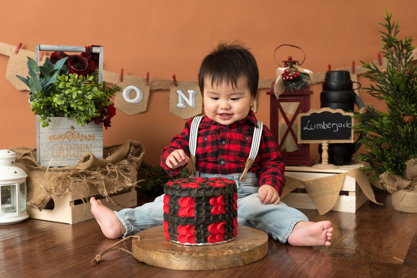 Lumber jack cake smash session {North Vancouver family photographer}
