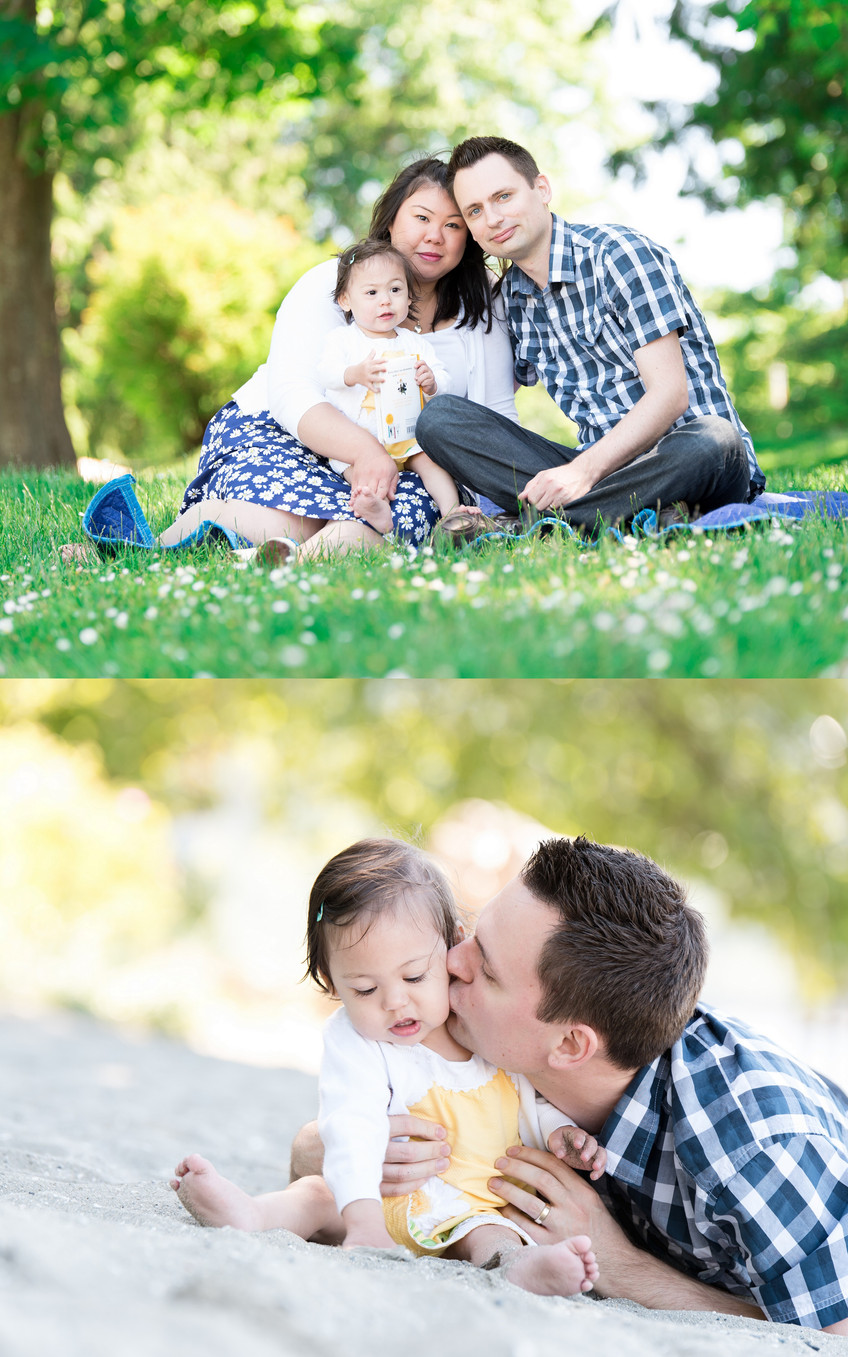 Family photo session in Cates Park