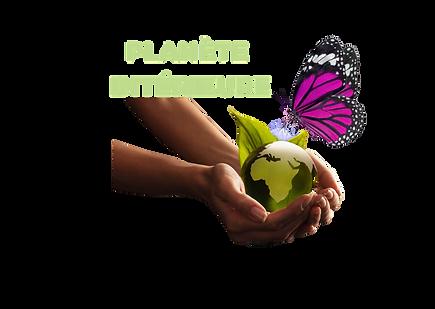 Logo Planète intérieure transparent text