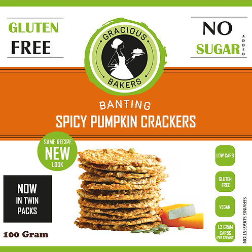 Banting Spicy Pumpkin Crackers