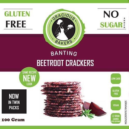 Banting Beetroot & Rosemary Crackers