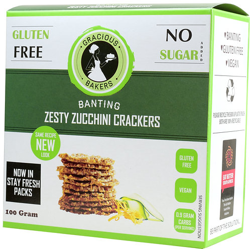 Banting Zesty Zucchini Crackers