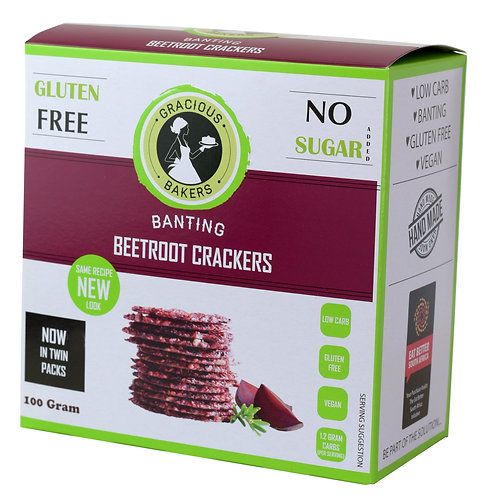 Banting Beetroot & Rosemary Crackers