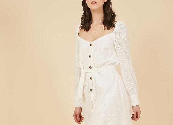 Frnch Paris Aycha Dress- White