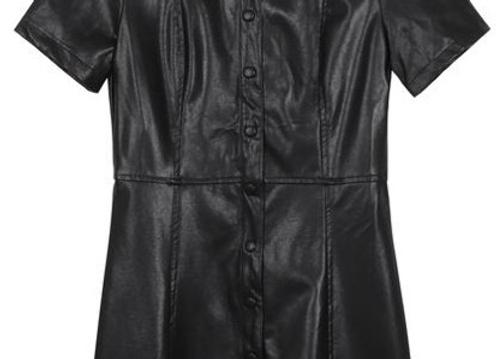 Frnch Paris Woven Dress-Black