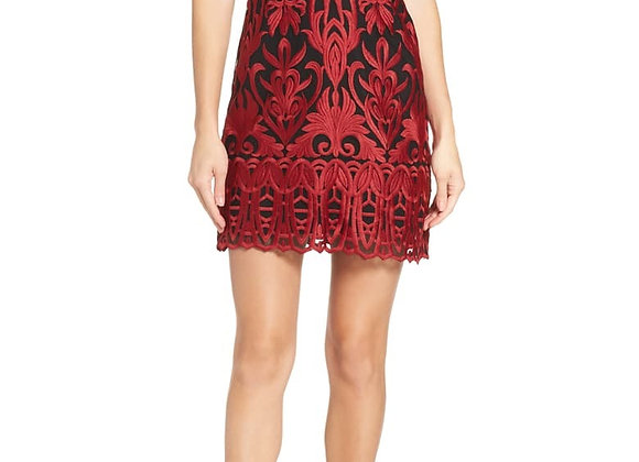 FoxieDox Rosa Lynn Dress-Red/Black