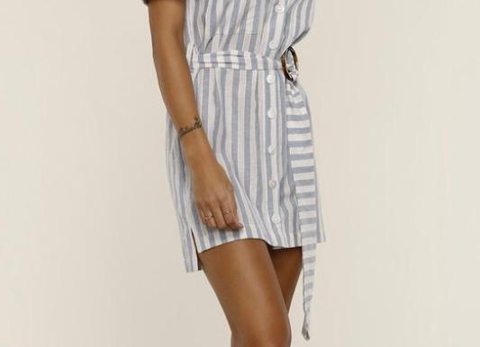 Heartloom Shirt Dress-Sky
