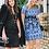 Thumbnail: FoxieDox Rosa Lynn Dress-Blue/Black