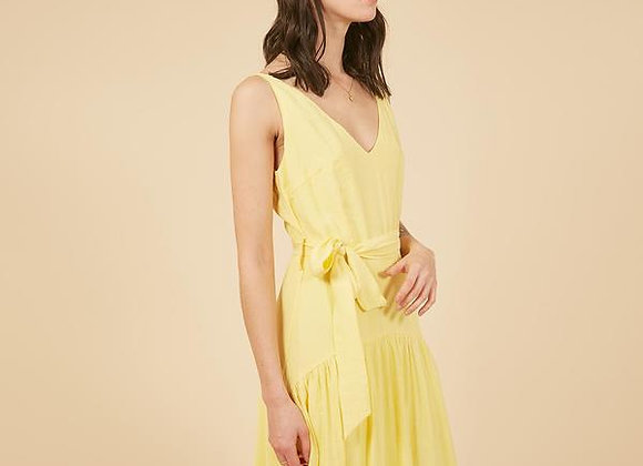 Frnch Paris Aubertine Dress- Yellow