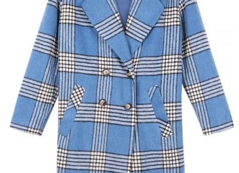 Frnch Paris Sandia Coat- Blue
