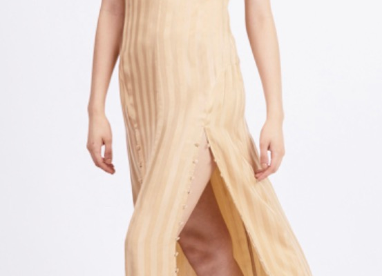 Third Form Looped In Slip Dress- Tan
