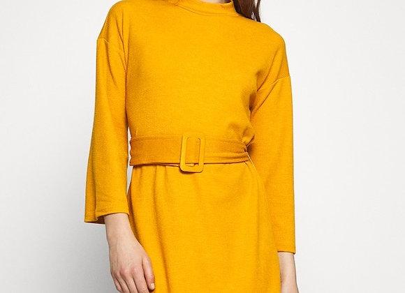 MinkPink Erica Waffle Dress-Mustard