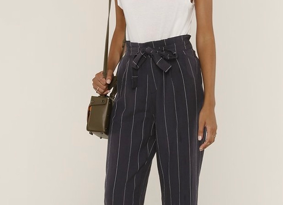 Heartloom Nash Pant- Navy Pinstriped