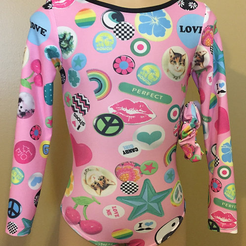 Candy Girl Long Sleeve Leotard