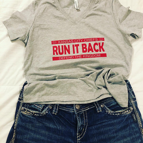 Run It Back Unisex Bella+Canvas V neck relaxed fit T-Shirt