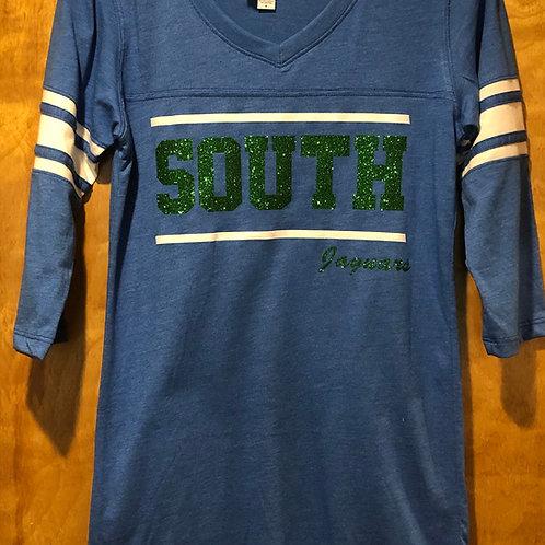 South 3/4 sleeve retro football tee