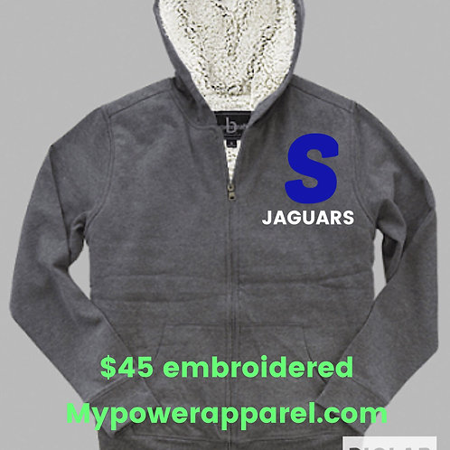 Hoodie Sherpa Full Zip Jacket