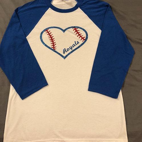 Royals Baseball heart