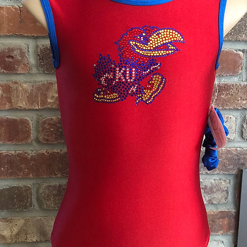 Kansas Jayhawks leotard